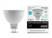 Лампа  Gauss LED Elementary MR16 GU5.3  5,5W  2700K 13516