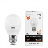 Лампа  Gauss Filament LED A60 globe 8W E27 2700K 1\10\40  102802108